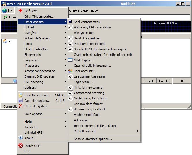 Hfs http file server 2 3 build 288 neowin for Hfs server templates
